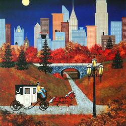 Пазл онлайн: Осень в Нью-Йорке