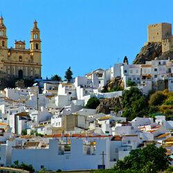 Пазл онлайн: Олвера. Белый город в Испании