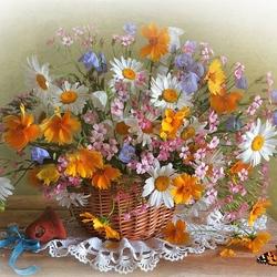 Пазл онлайн: Цветики-цветочки