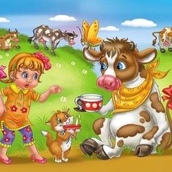 Пазл онлайн: Молоко