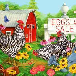 Пазл онлайн: Продажа яиц