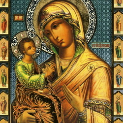 Пазл онлайн: Иерусалимская икона Божьей Матери