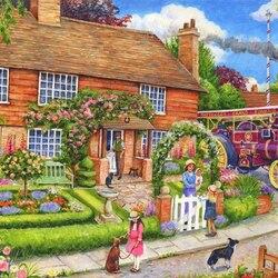 Пазл онлайн: Сады у дома