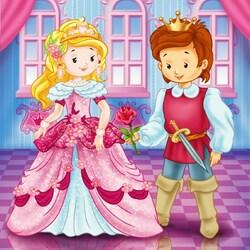 Пазл онлайн: Принц и принцесса