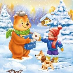 Пазл онлайн: Письмо Деду Морозу