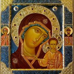 Пазл онлайн: Икона Казанская Божья Матерь