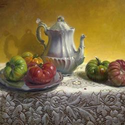 Пазл онлайн: Натюрморт с томатами