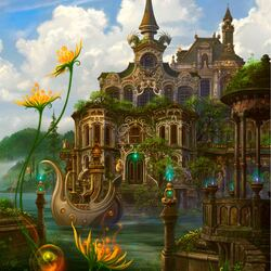 Пазл онлайн: Фантастический замок