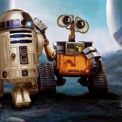 Пазл онлайн: ВАЛЛ-И и R2-D2