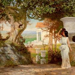 Пазл онлайн: Водонос в античном ландшафте