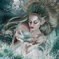 Пазл онлайн: Водная нимфа