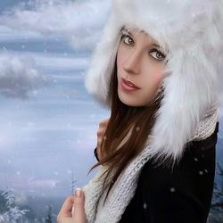 Пазл онлайн: Зимний портрет