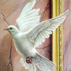 Пазл онлайн: Птица мира