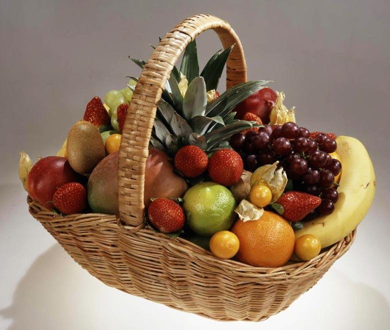 Корзина фруктов как сделать
