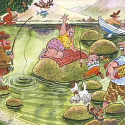Пазл онлайн: Озеро проблем