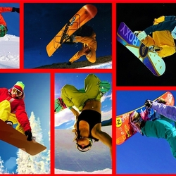 Пазл онлайн: Сноубординг