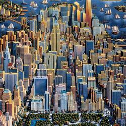 Пазл онлайн: New York. Manhattan. /  Нью-Йорк. Манхеттен