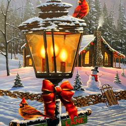 Пазл онлайн: Рождественский насест