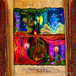 Пазл онлайн: Странный календарь библиотеки:  Май