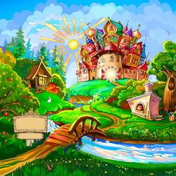 Пазл онлайн: В мире сказок