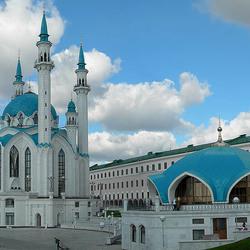 Пазл онлайн: Мечеть Кул-Шариф в Казани