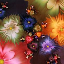 Пазл онлайн: Фрактальные цветы