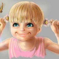 Пазл онлайн: Смешная девчонка