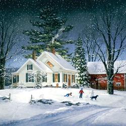 Пазл онлайн: Зимнее время