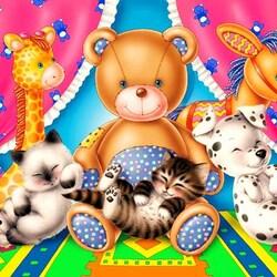 Пазл онлайн: Милые игрушки