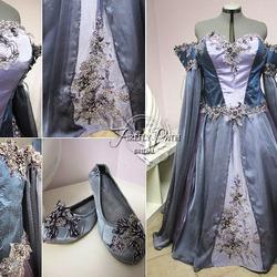 Пазл онлайн: Лавандовое свадебное платье