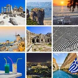 Пазл онлайн: Привет из Греции