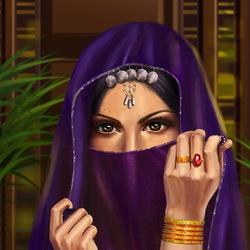 Пазл онлайн: Девушка Востока