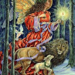 Пазл онлайн: Лесной ангел