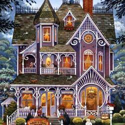 Пазл онлайн: Дом волшебника