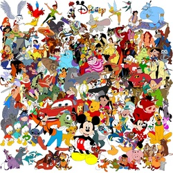 Пазл онлайн: Персонажи мультфильмов
