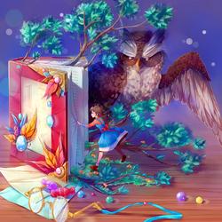 Пазл онлайн: Ученая сова