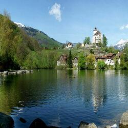 Пазл онлайн: Замок Верденберг. Швейцария