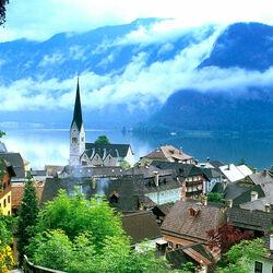 Пазл онлайн: Гальштадт. Австрия