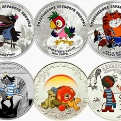 Пазл онлайн: Герои мультфильмов. Необычные монеты