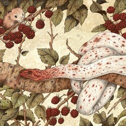 Пазл онлайн: Малиновый куст