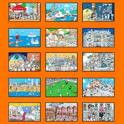 Пазл онлайн: Достопримечательности Барселоны