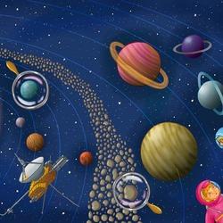 Пазл онлайн: Солнце и планеты
