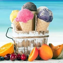 Пазл онлайн: Мороженое в рожке