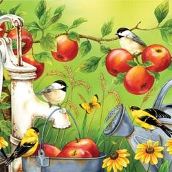 Пазл онлайн: Яблочный урожай