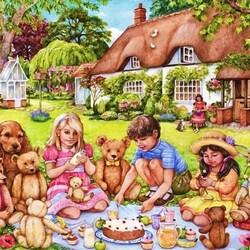 Пазл онлайн: Пикник для мишек Тедди