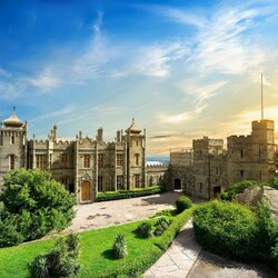 Пазл онлайн: Воронцовский дворец, Алупка