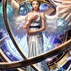 Пазл онлайн: Космический ангел планет
