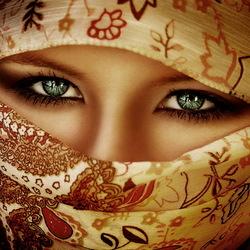 Пазл онлайн: Зелёные глаза