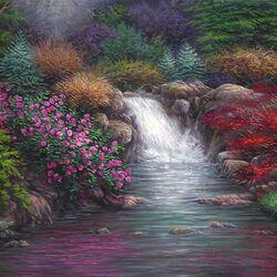 Пазл онлайн: Прекрасный весенний сад