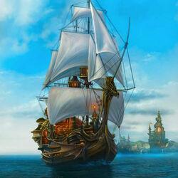 Пазл онлайн: Волшебный корабль